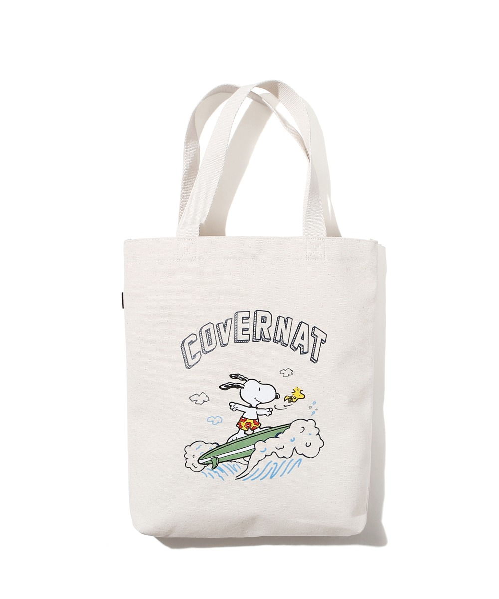 CXPEANUTS 70th SURFING SNOOPY ECO BAG IVORY