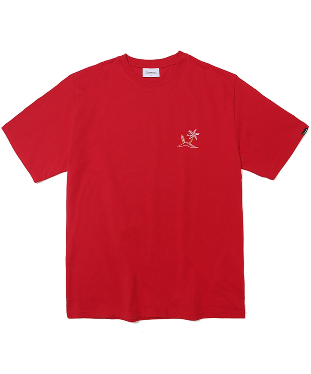 S/S SURFER MAN TEE RED