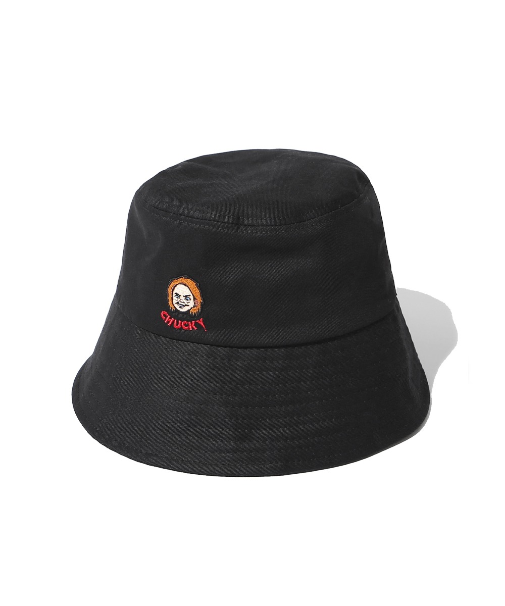 COVERNAT X CHUCKY FACE BUCKET HAT BLACK