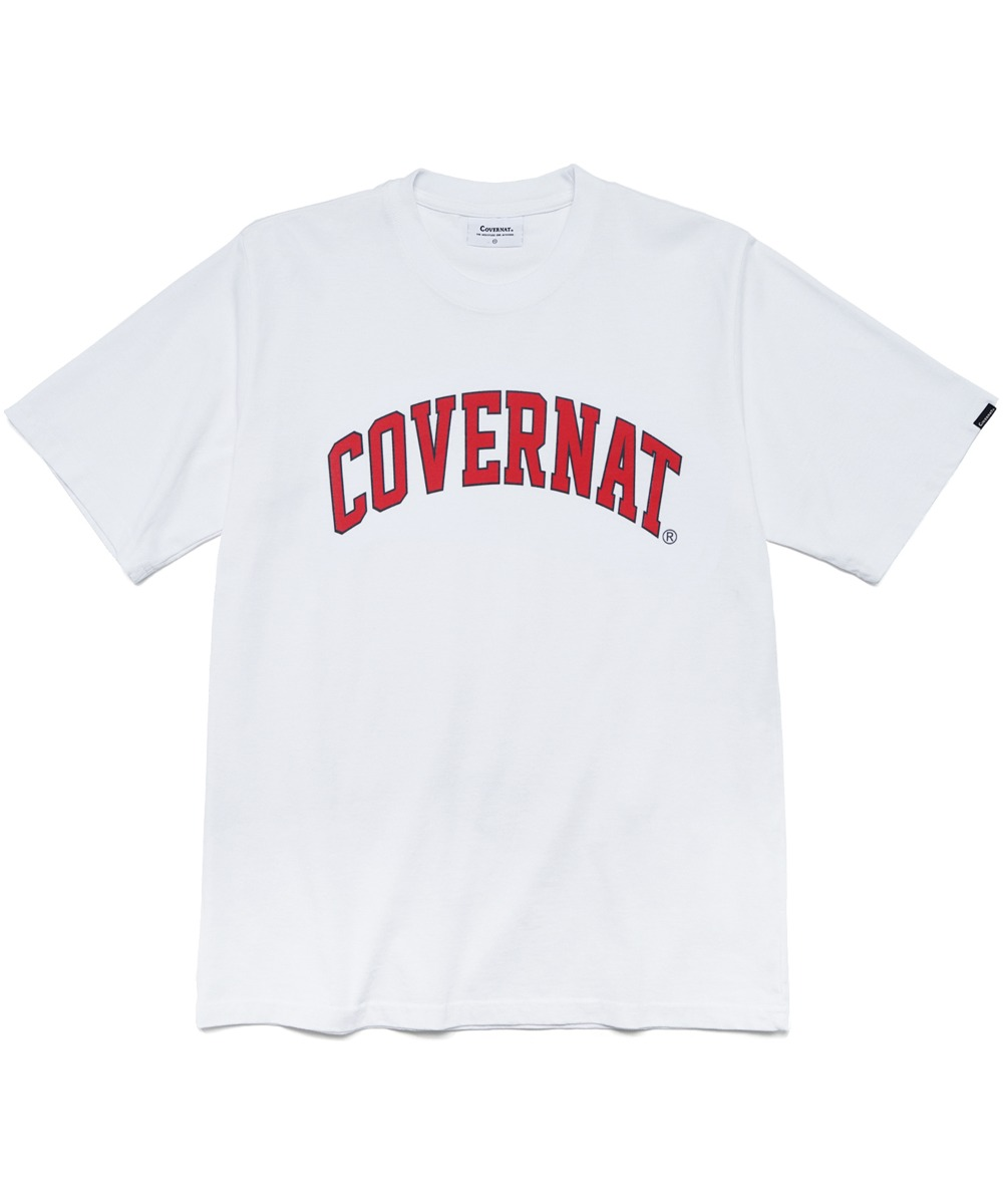 S/S ARCH LOGO TEE WHITE/RED