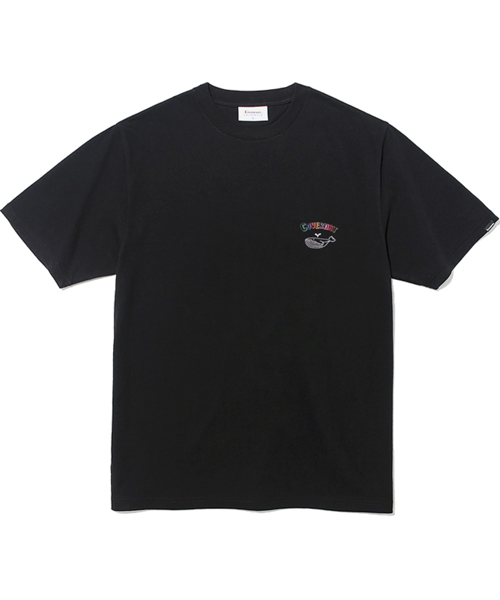 S/S WHALE GRAPHIC TEE BLACK