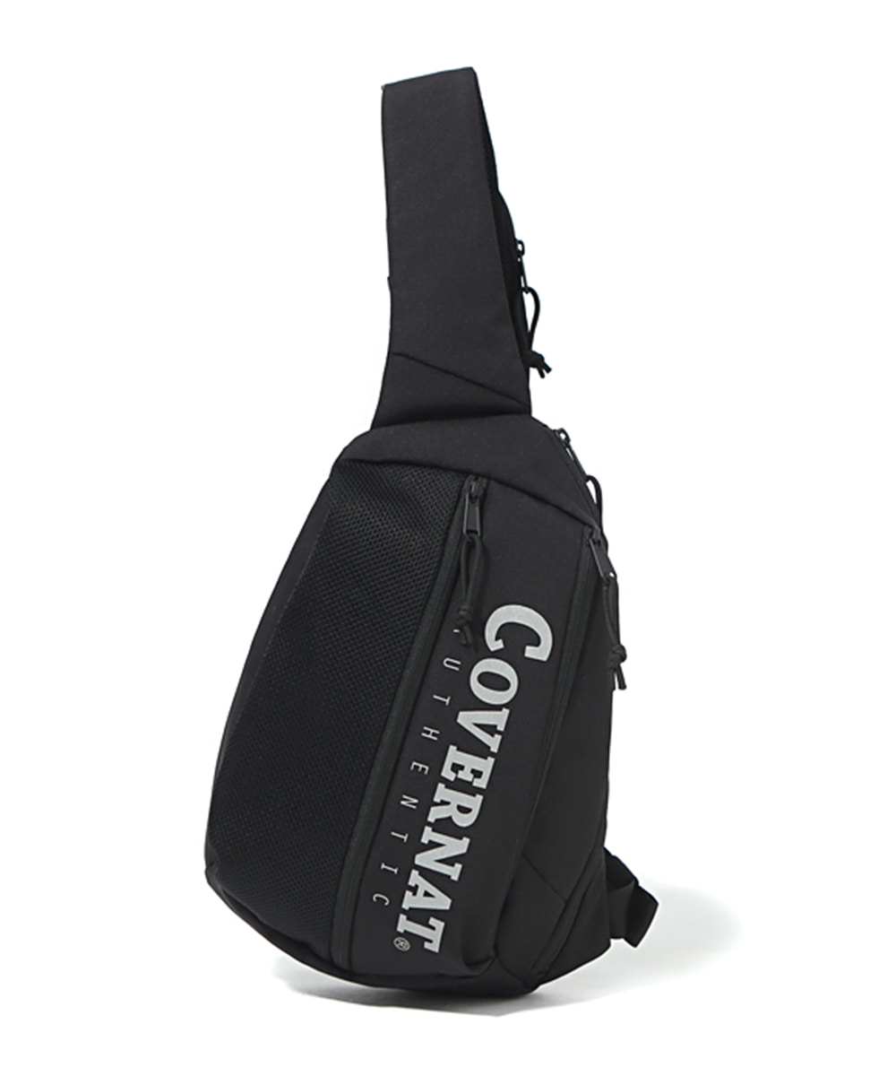 CORDURA AUTHENTIC LOGO SLING BAG BLACK